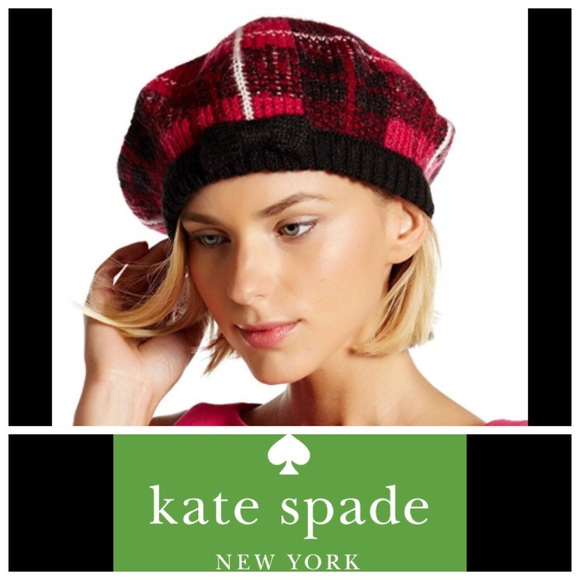 cac7141d4ea43 NWT Kate Spade Woodland Plaid Beret with dust bag